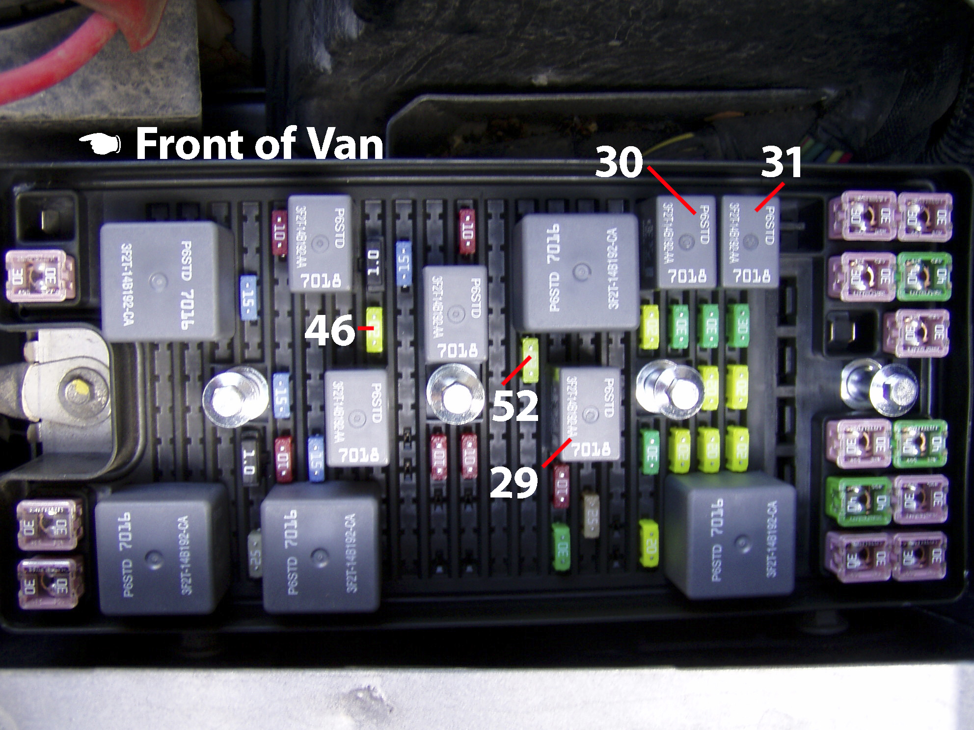 trailer wiring on the 2005 ford freestar davintosh rh davintosh com 2005 Ford Freestar Fuse Box Diagram 2004 Ford Escape Fuse Box Diagram