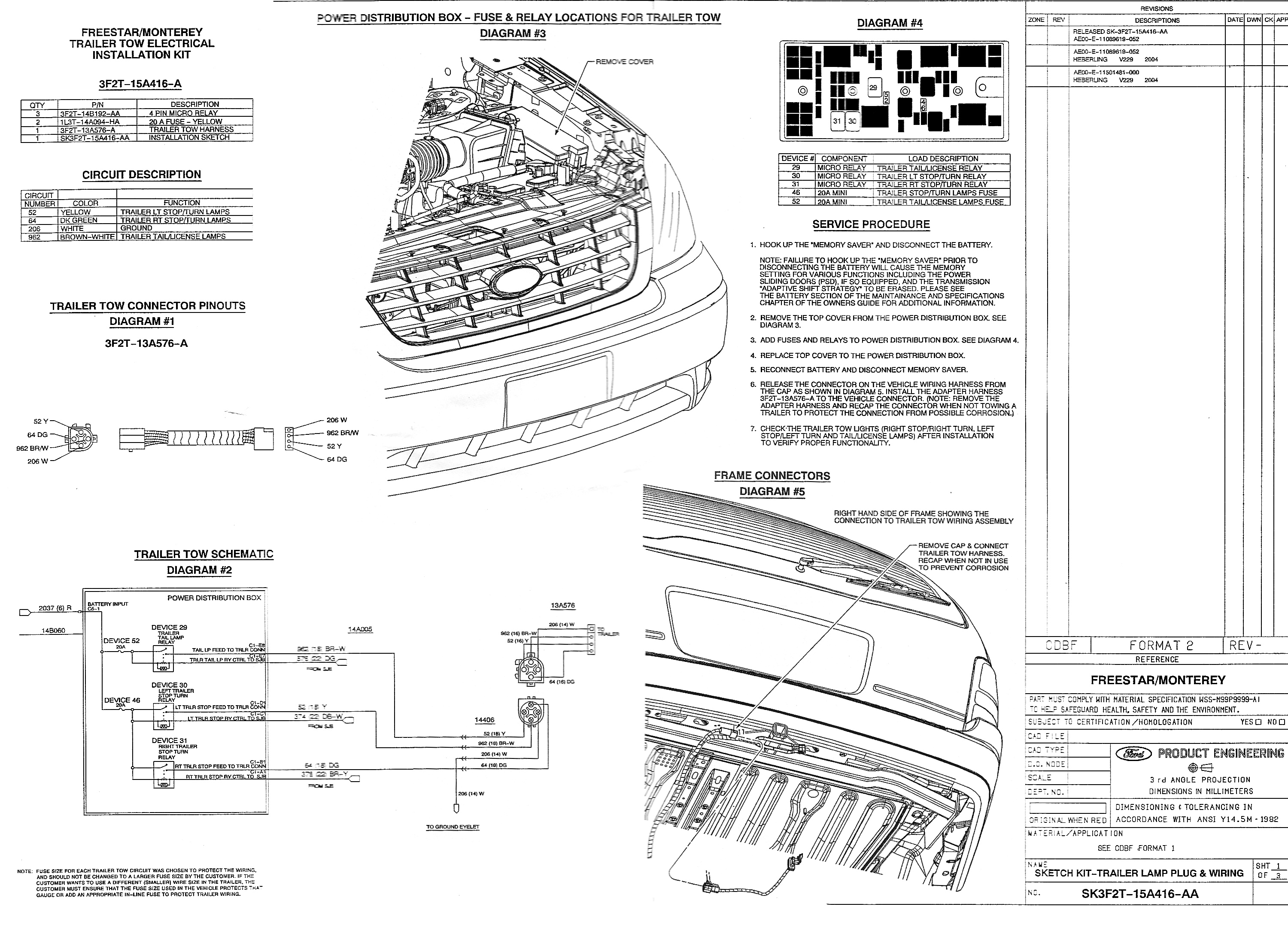 Trailer Wiring On The 2005 Ford Freestar Davintosh S Max Towbar Diagram Image Large File 16mb